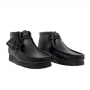 Clarks Wallabee Boot (black leather)
