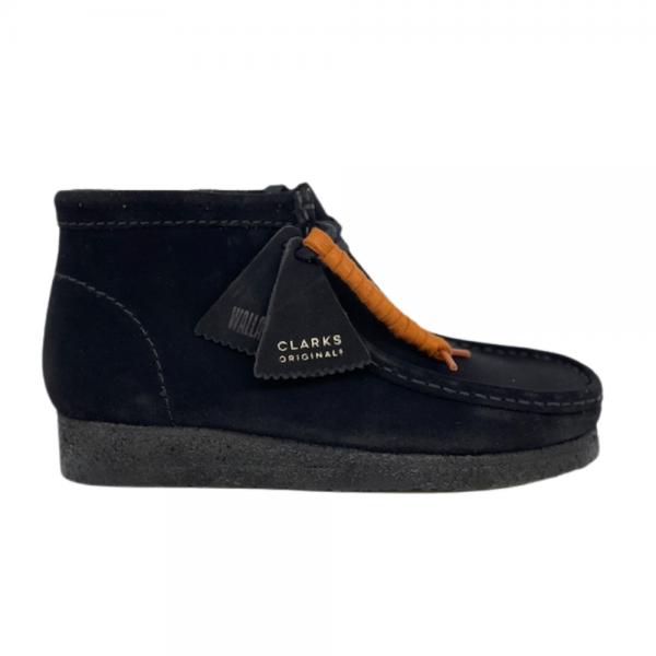 Clarks Wallabee Boot (Black Suede)