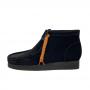 Clarks Wallabee Boot (Black Suede) 2021