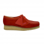 clarks Wallabee low (red combi)