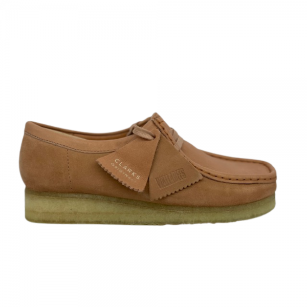 clarks wallabee low (sandstone combi)