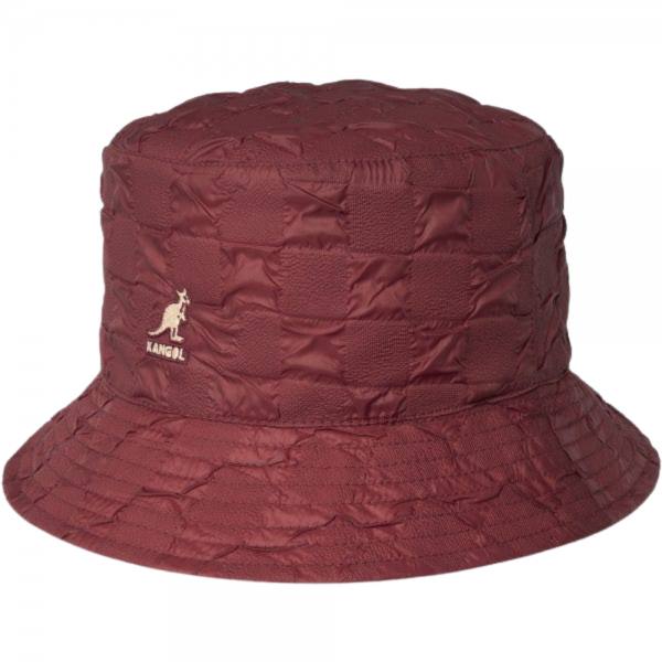 Kangol Pucker Check Bucket (Red Velvet)