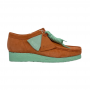 Clarks Wallabee Low (Coral Combi)