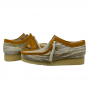 Clarks Wallabee Low (Sand Fabric)