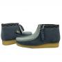 Clarks Wallabee Boot (Blue Combi)