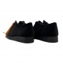 Clarks Wallabee Low (Black Suede)