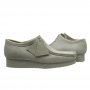 Clarks Wallabee Low (White Suede)