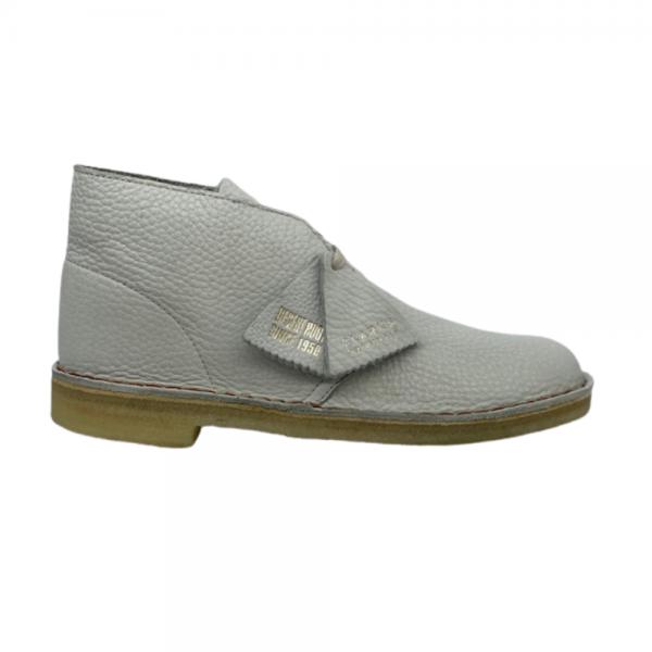Clarks Desert Boot (white Leather)