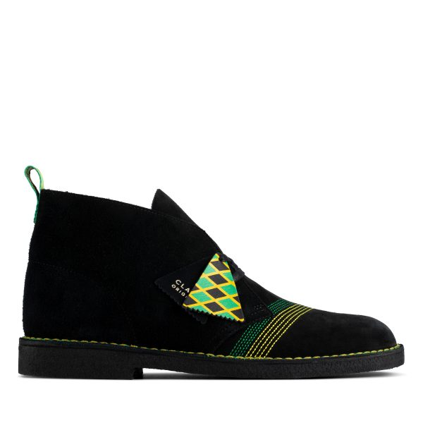 Clarks Desert Boot Jamaica (Black/Multi)